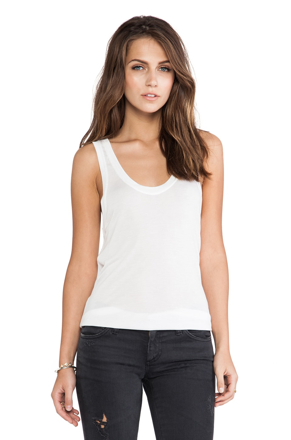 AG Adriano Goldschmied Wren Tank in White