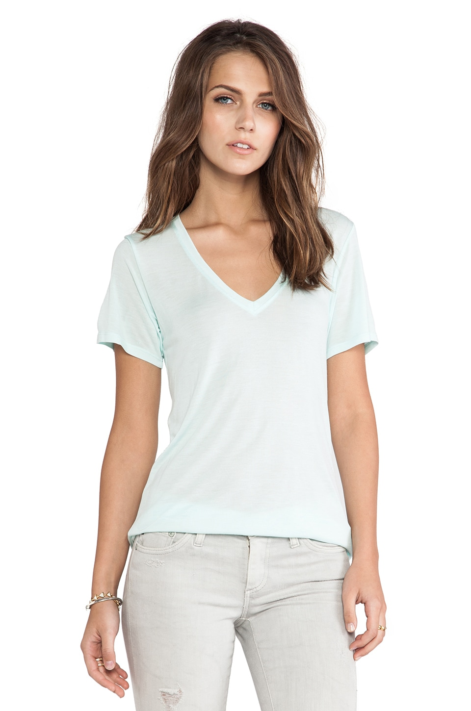 AG Adriano Goldschmied Wren Tee in Faded Jade