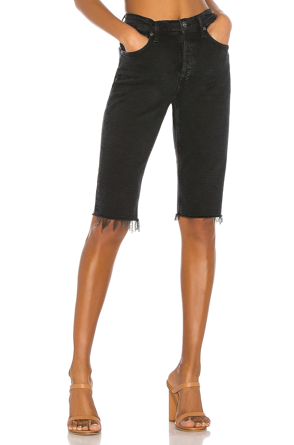 AGOLDE Carrie Long Length Slim Short in Stunner