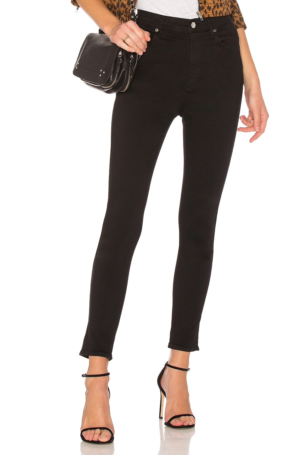 AGOLDE Roxanne Super High Rise Skinny in Jet