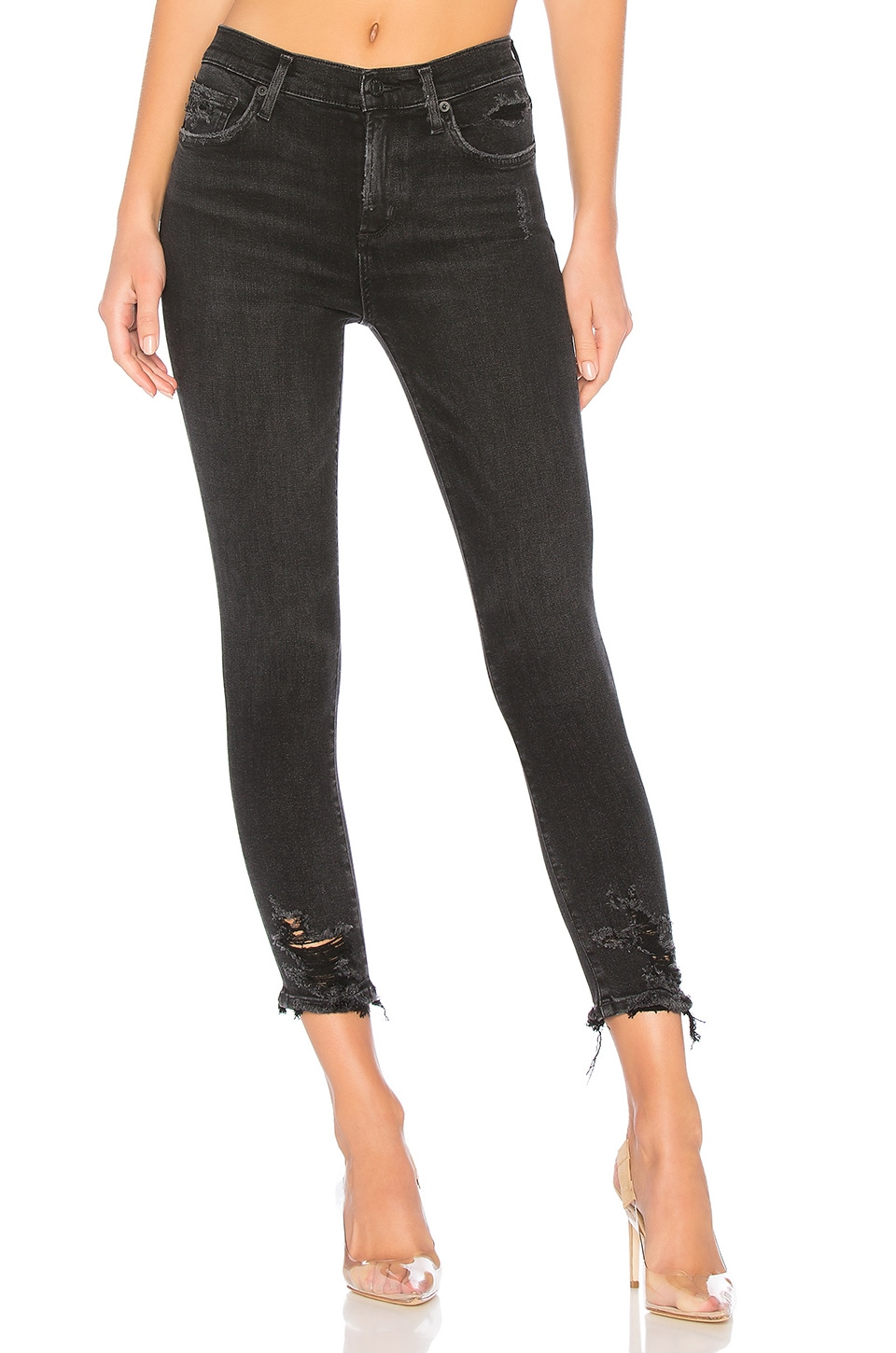 AGOLDE Sophie High Rise Skinny Crop in Temple