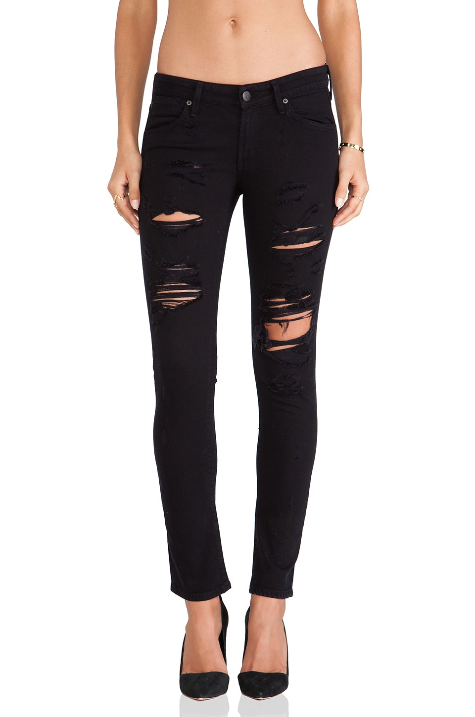 AGOLDE A Gold E Chloe Low Rise Skinny in Stardust