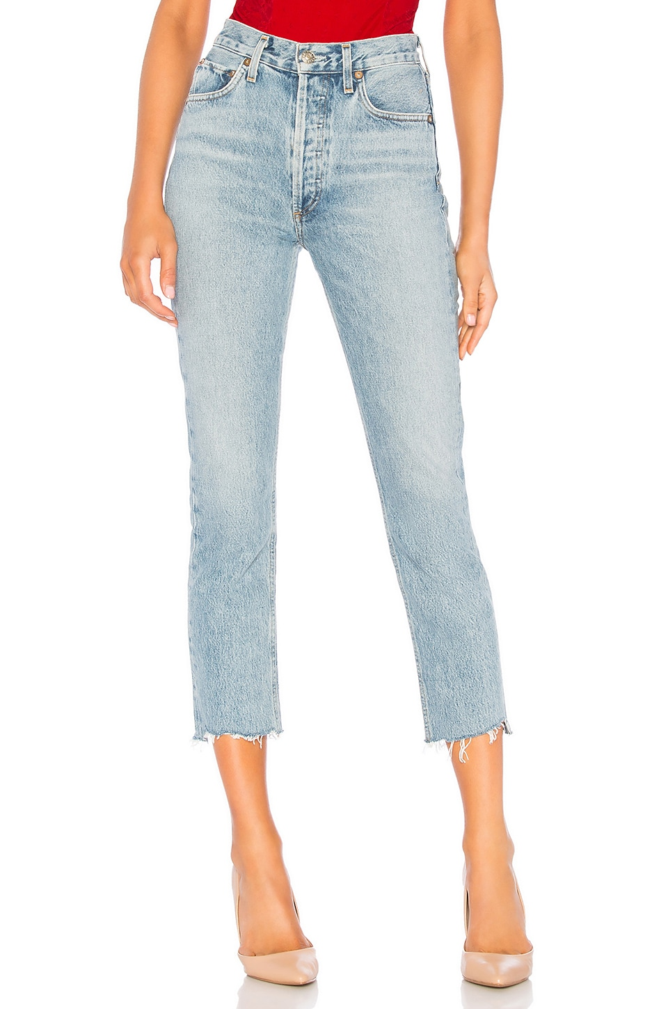 Riley High Rise Straight Crop                   AGOLDE                                                                                                                             CA$ 258.93 3