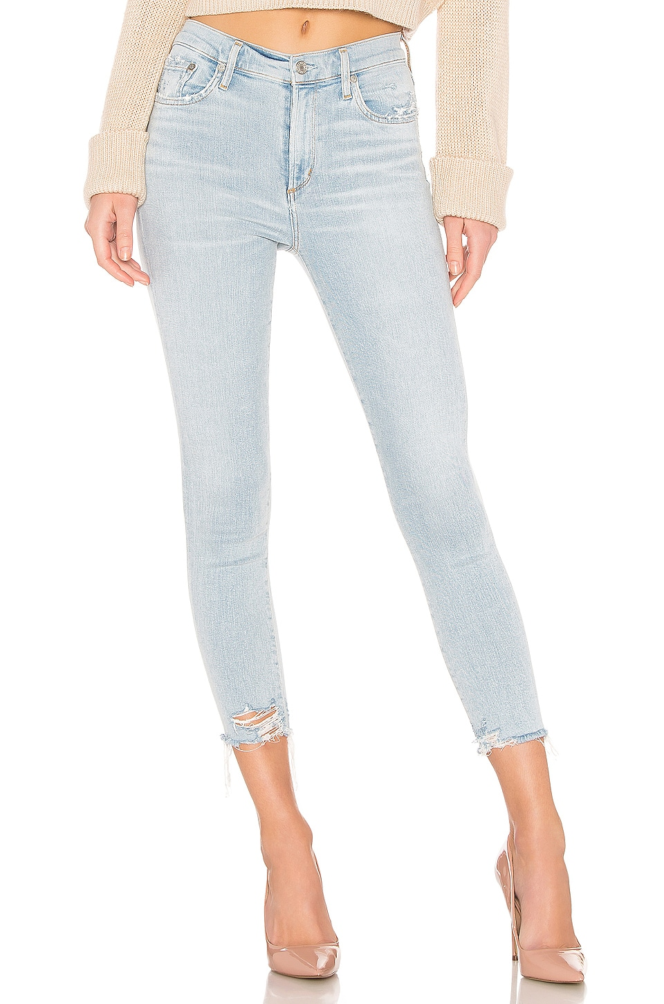 AGOLDE Sophie High Rise Skinny Crop en Parallel