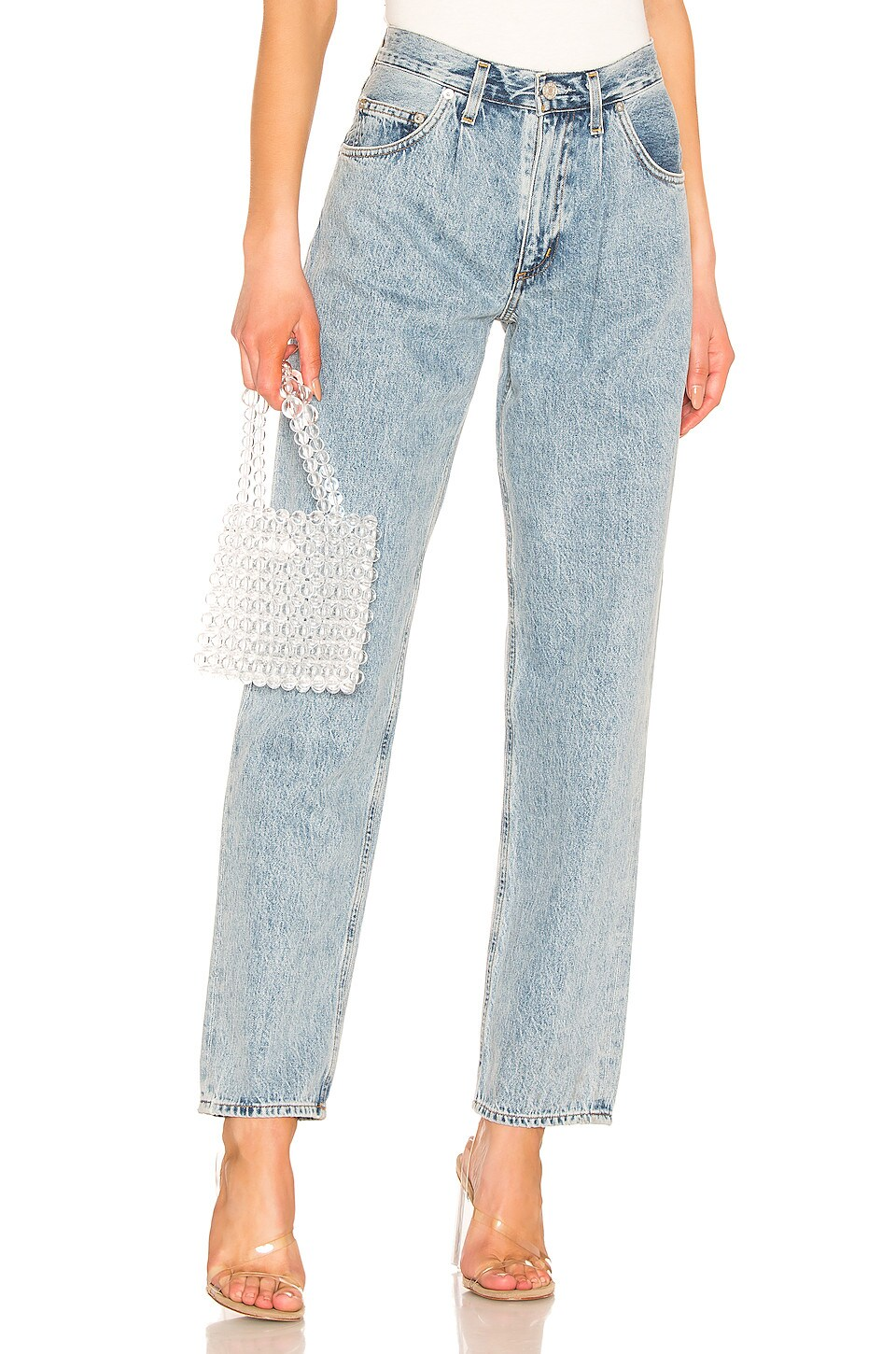 AGOLDE Baggy Oversized Jean With Pleats in Lark