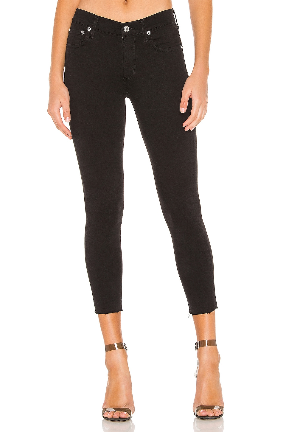 AGOLDE Sophie High Rise Skinny Crop in Shift