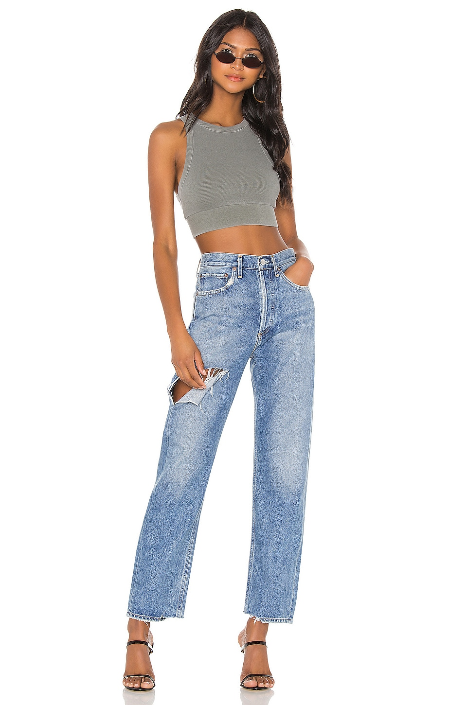90's Mid Rise Loose Fit, view 4, click to view large image.