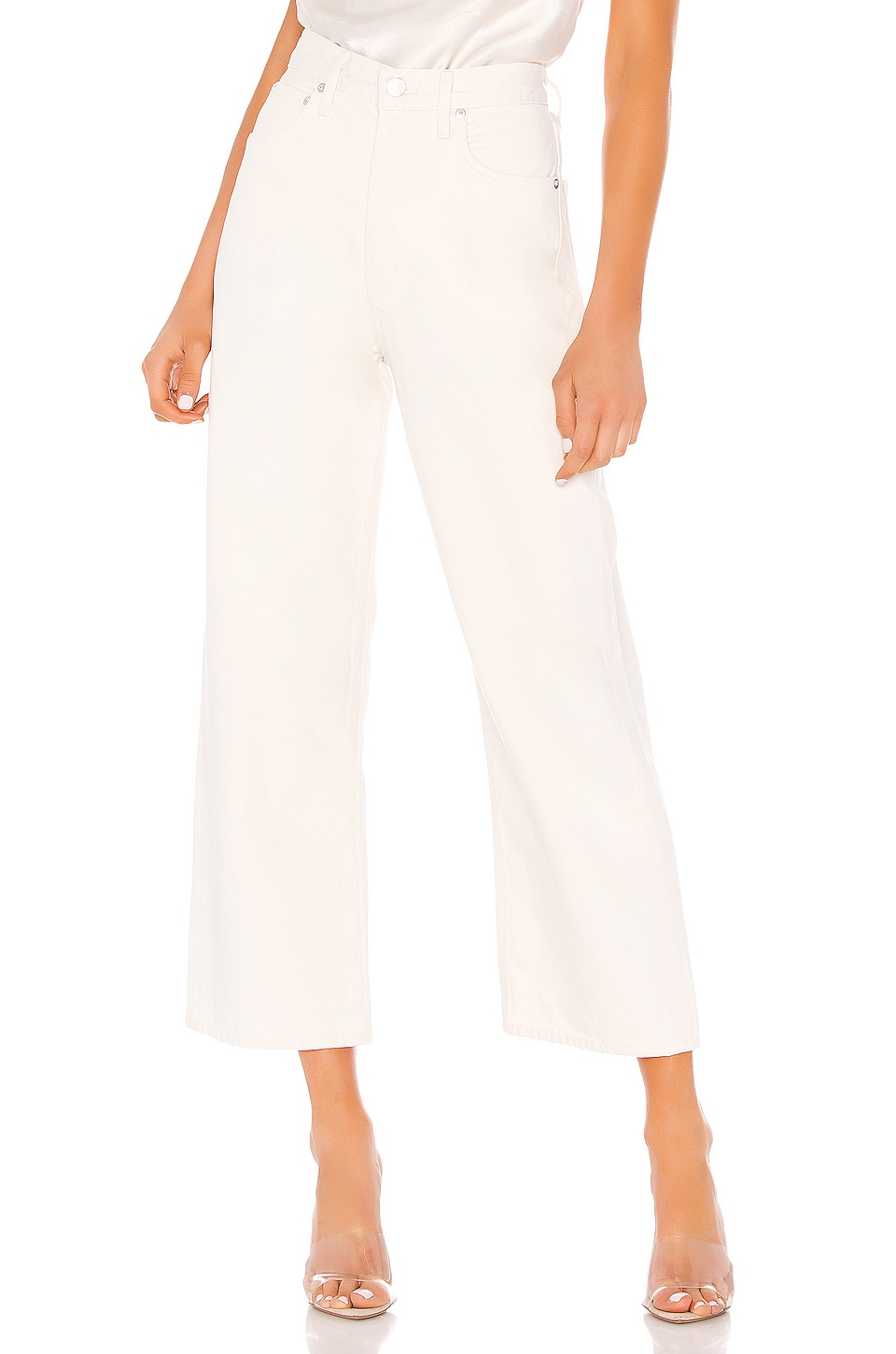AGOLDE Ren High Rise Wide Leg in Paper