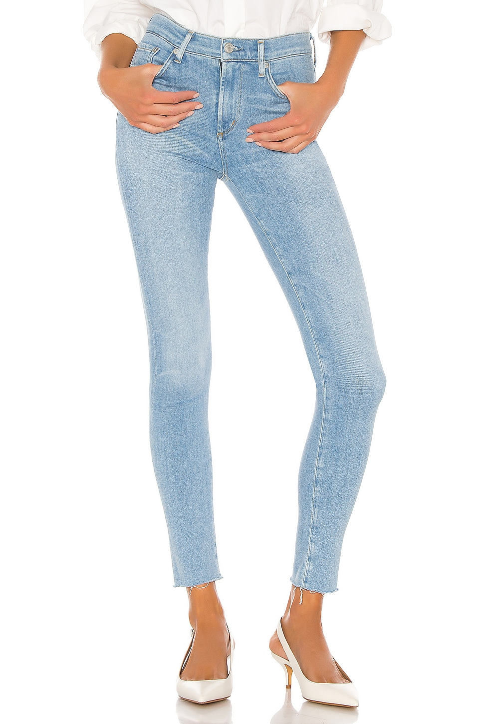 AGOLDE Sophie Ankle Skinny in Facet