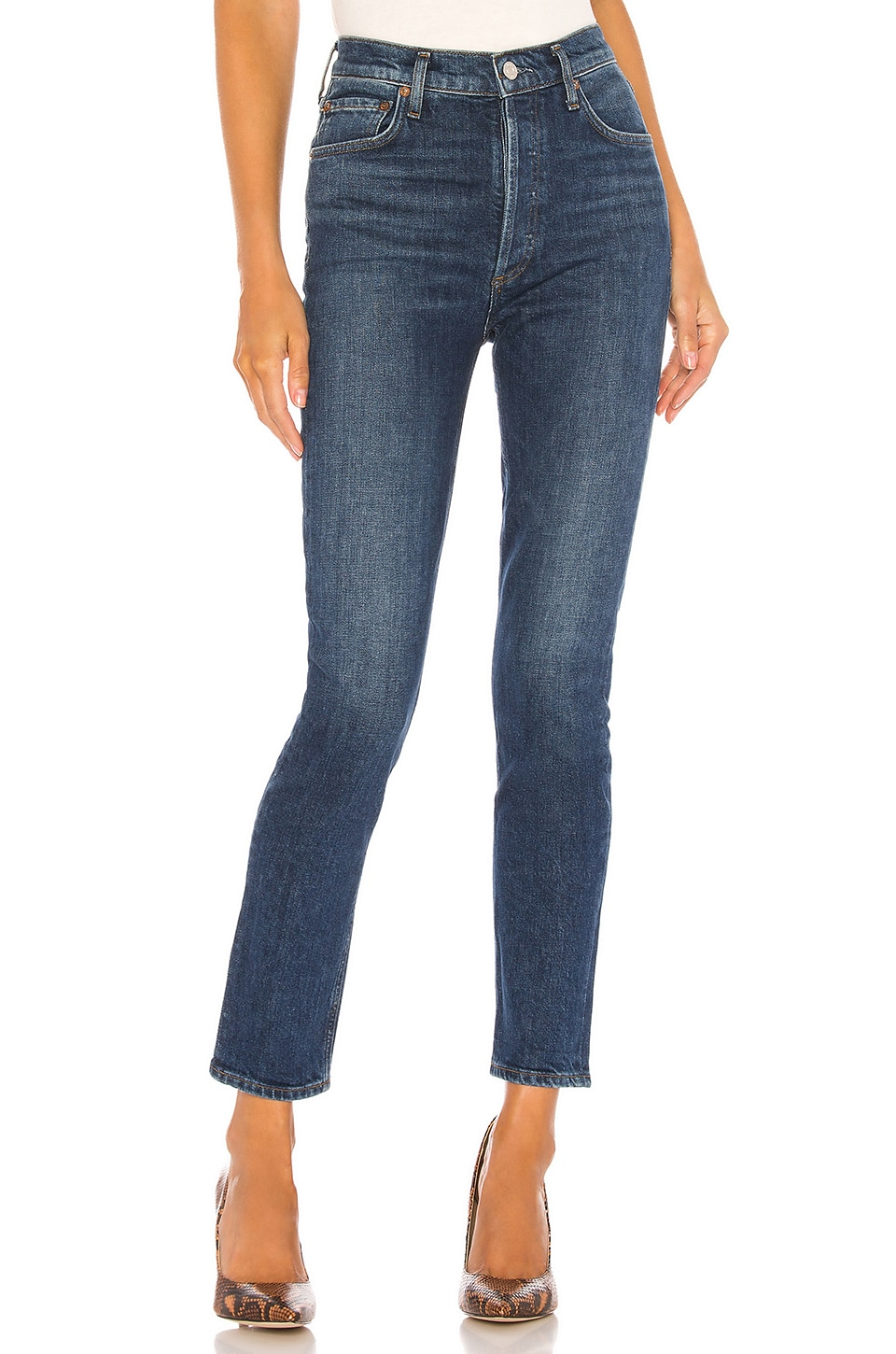 AGOLDE Nico High Rise Slim in Fixation