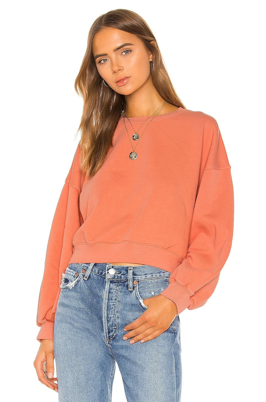 AGOLDE Balloon Sleeve Sweatshirt in Creamsicle