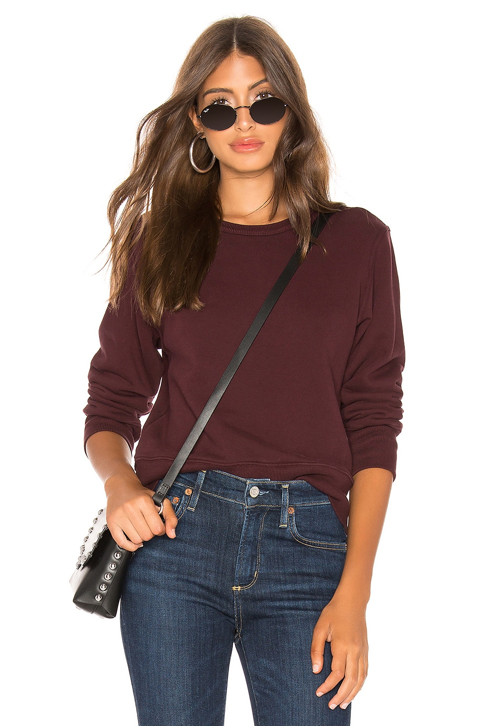 AGOLDE Shrunken Sweatshirt in Currant