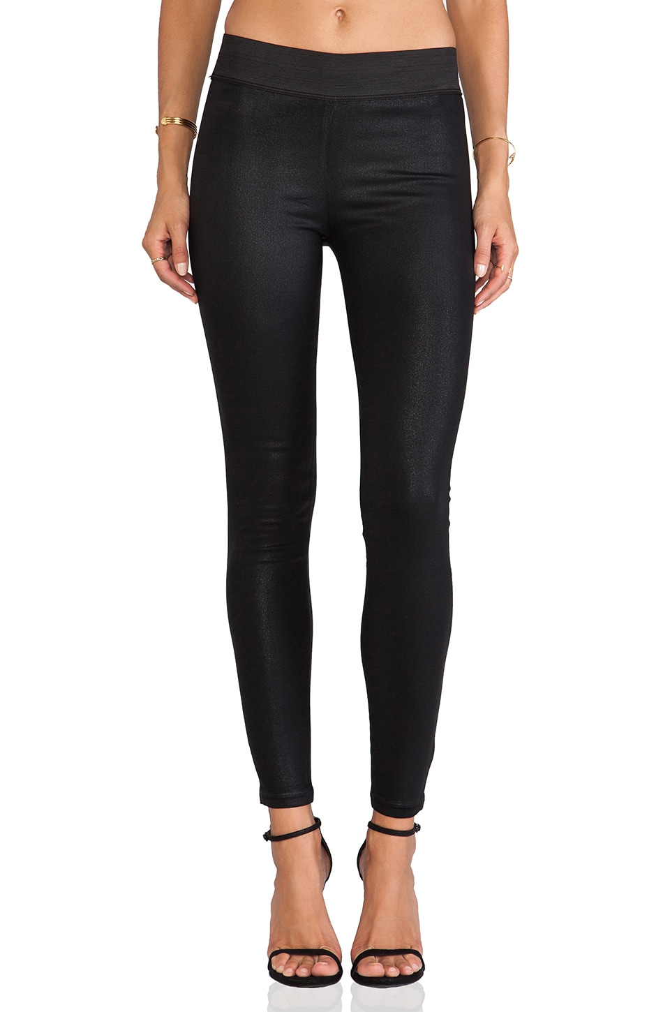 AGOLDE A Gold E Natalie Legging in Coated Noir