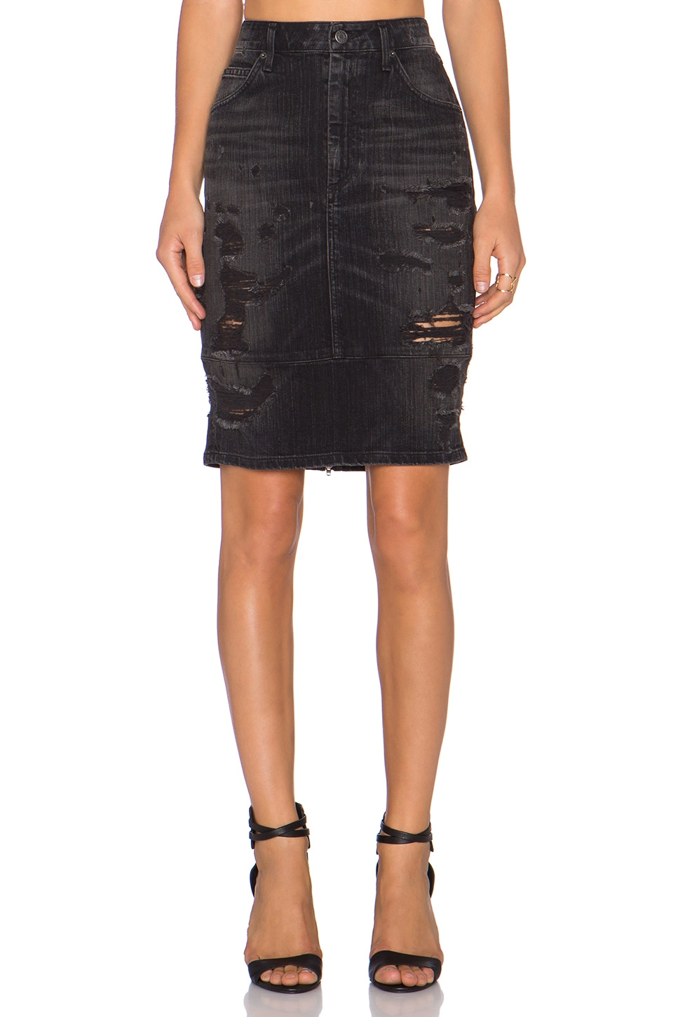 AGOLDE A Gold E Amie Pencil Skirt in Liverpool