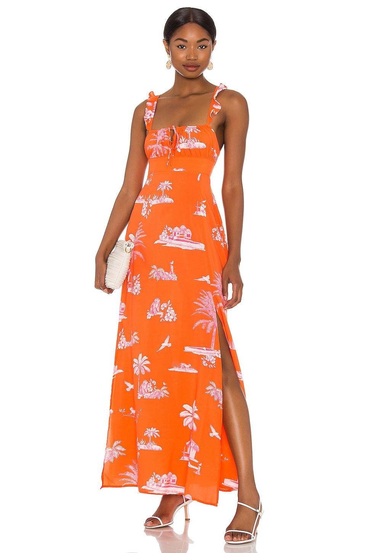 Agua Bendita x REVOLVE Menina Dress in Orange La Plage