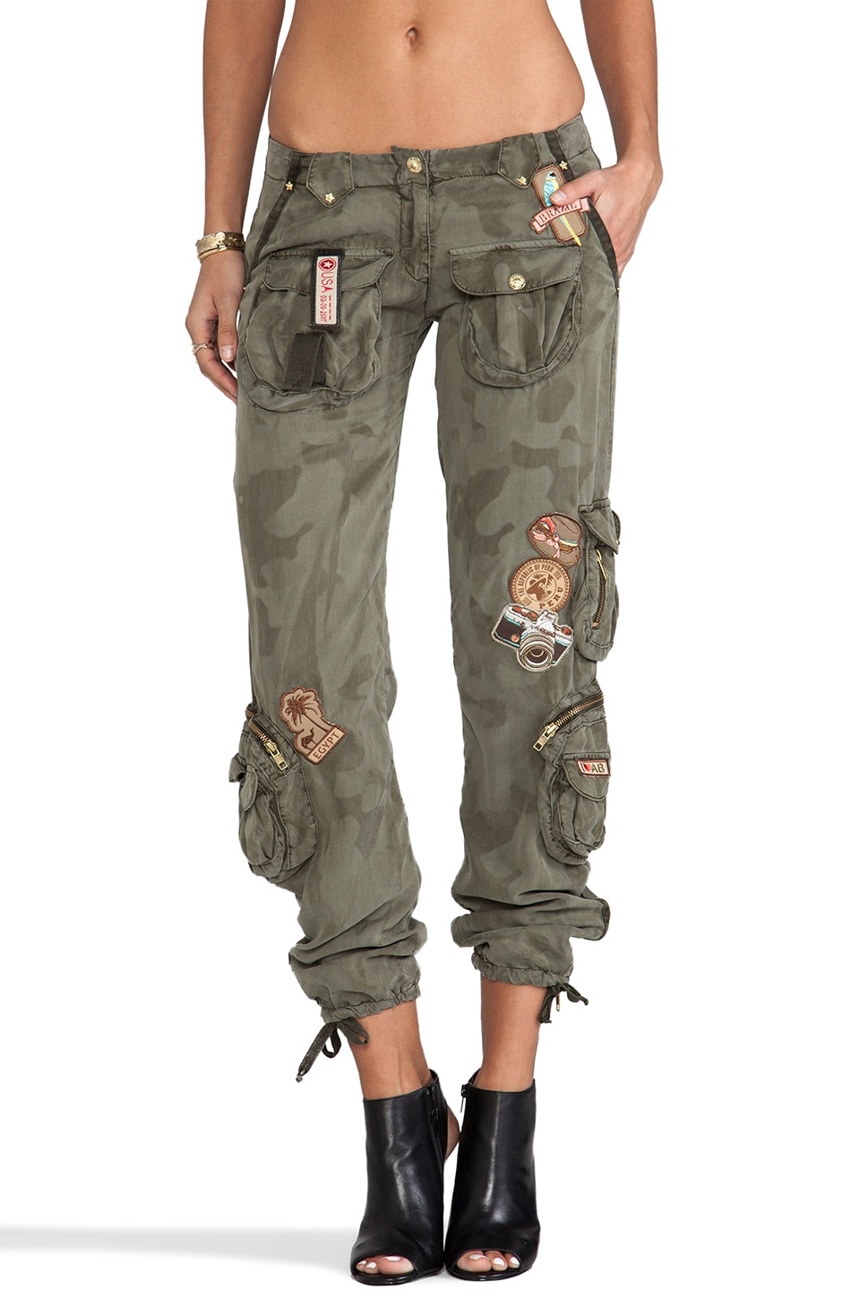 Agua Bendita Time to Travel Aviador Pants in Camo