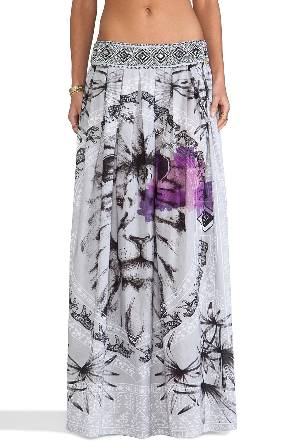 Agua Bendita Time For Africa Leon Skirt in Safari Print