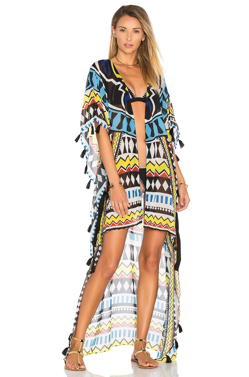 Agua Bendita Benito Zulu Tunic in Tribal Fest