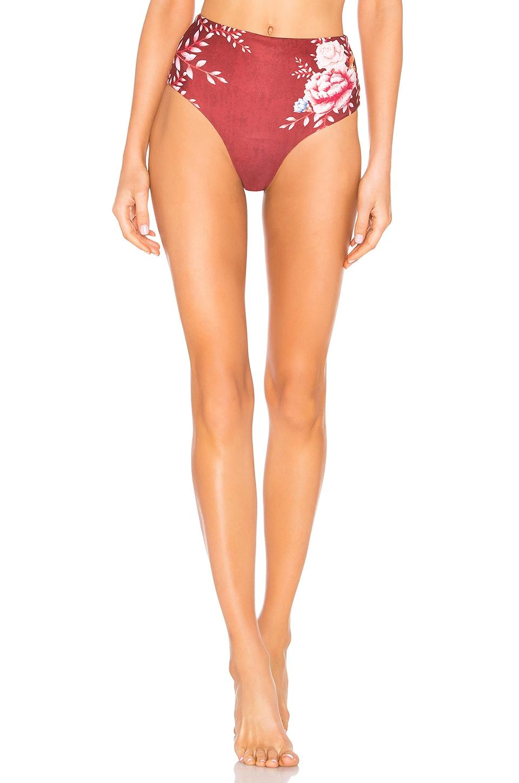 AGUA BENDITA Alicia Reversible Bikini Bottom in Pink