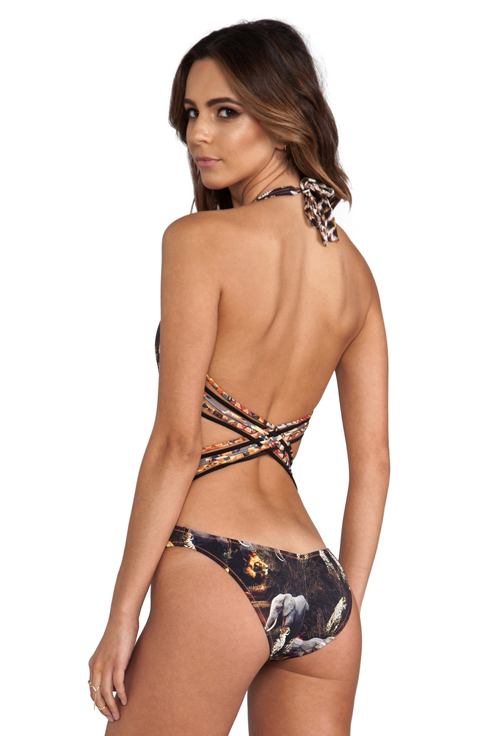 Agua Bendita Time to be Wild Selva Swimsuit in Animal Print