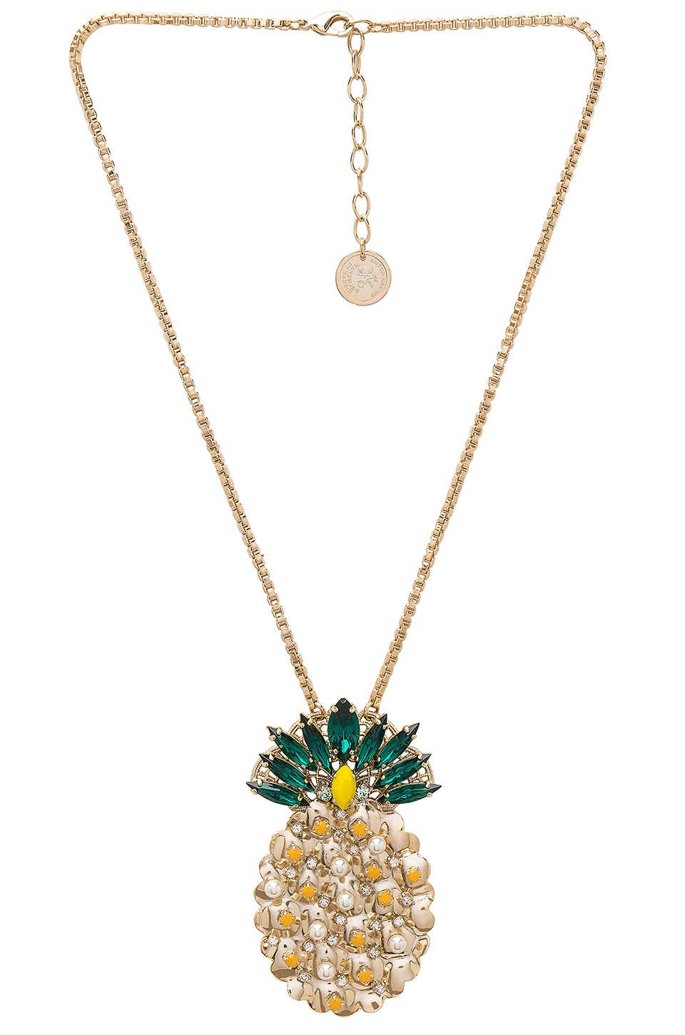 Pineapple Pendant Necklace by Anton Heunis