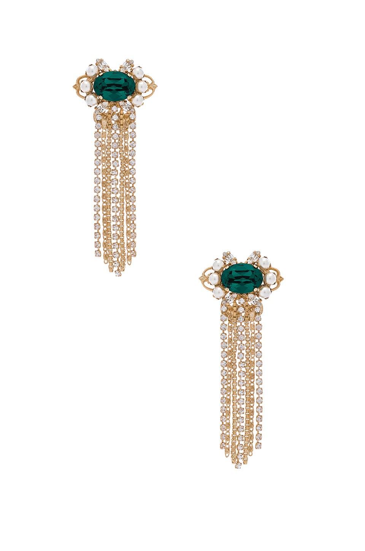 Anton Heunis Cascade Cluster Earrings in Emerald