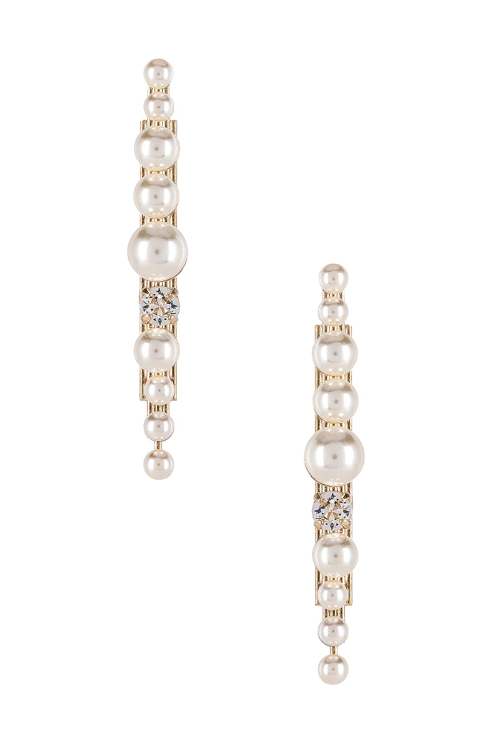 Anton Heunis Post Pearl Cluster Earring in Cream & Gold
