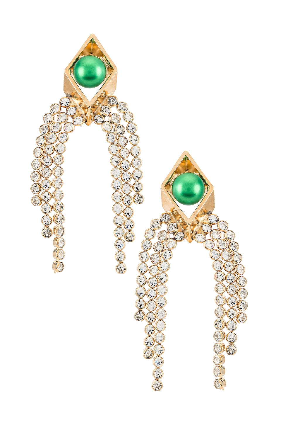 Anton Heunis Cascading Earring in Green