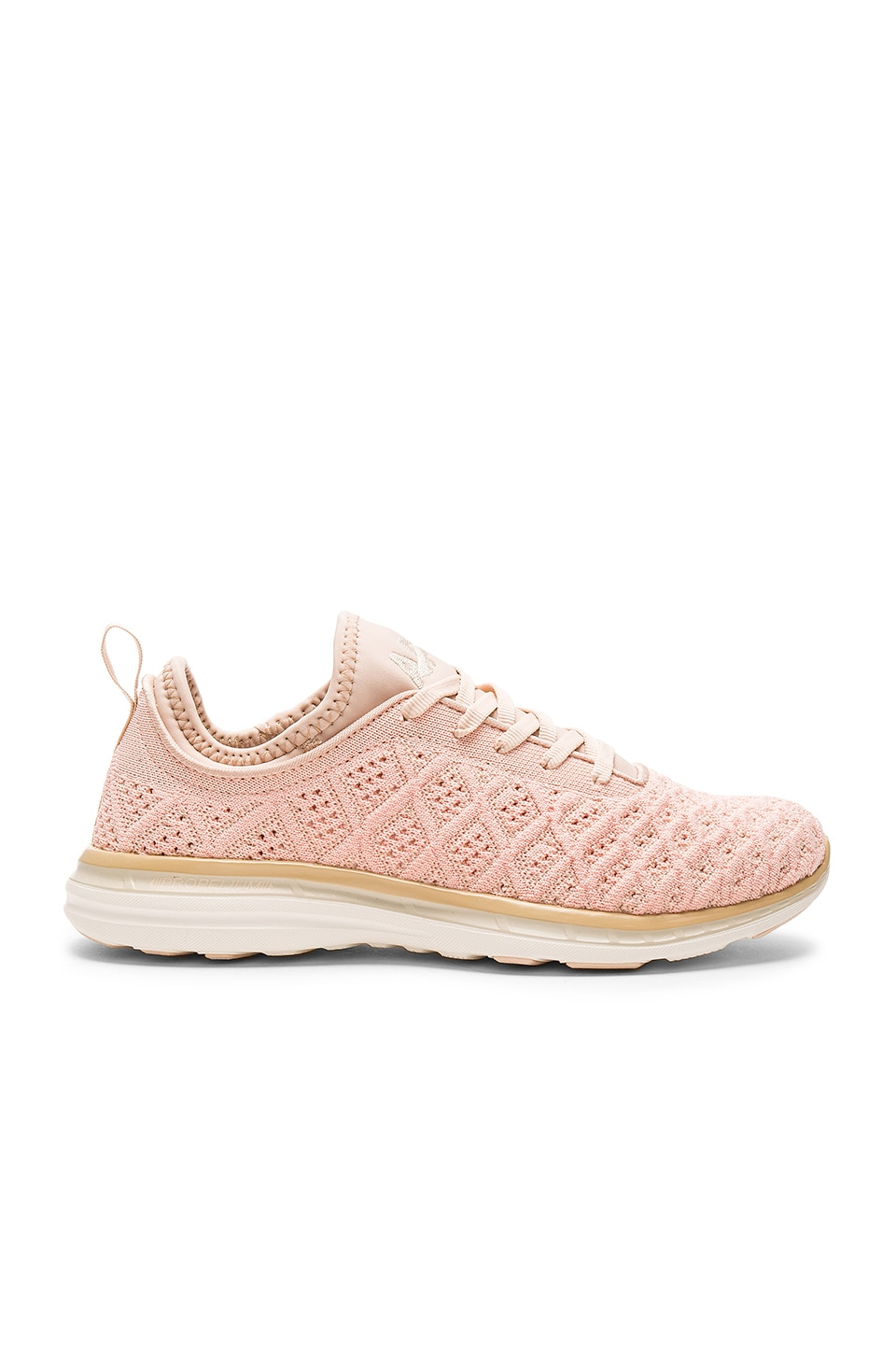 APL: Athletic Propulsion Labs TechLoom Phantom Sneaker in Blush & Cream