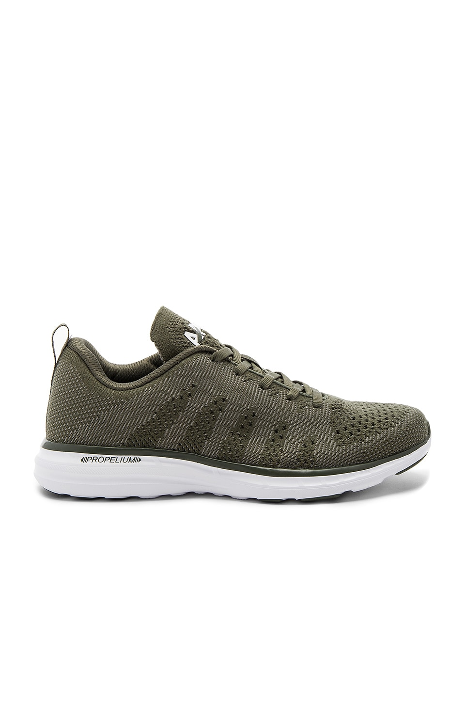 Athletic Propulsion Labs: APL Techloom Pro Cashmere Sneaker in Fatigue Cashmere