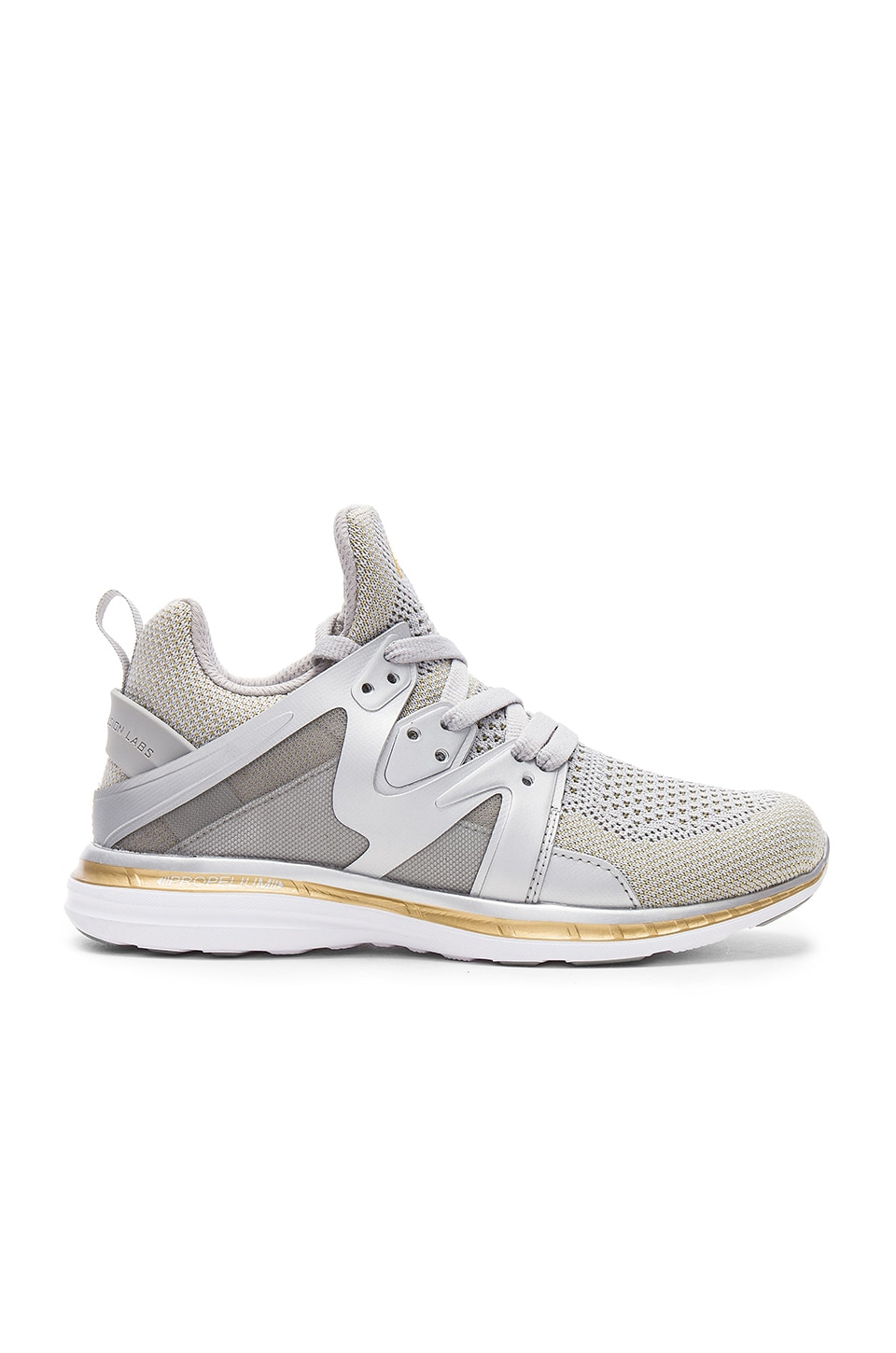 APL: Athletic Propulsion Labs Ascend Sneaker in Metallic Silver & Gold