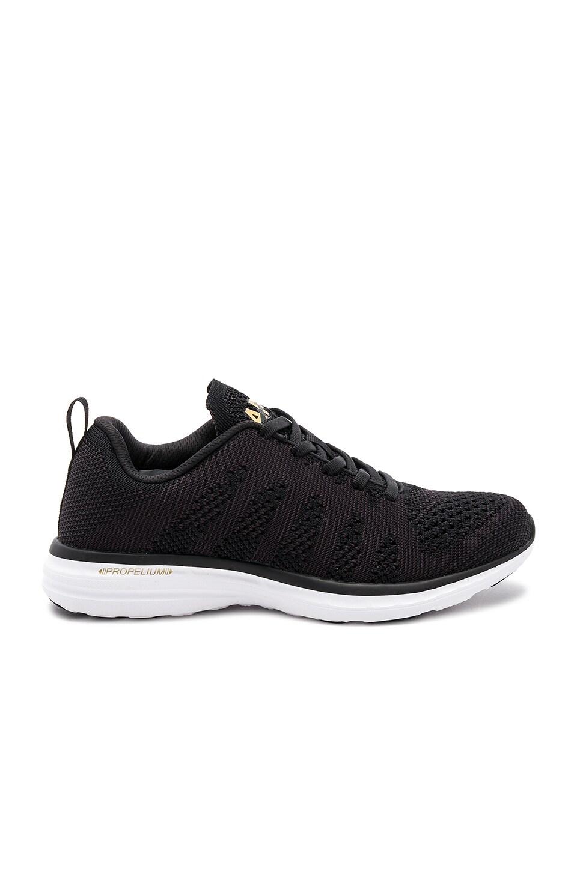 APL: Athletic Propulsion Labs Techloom Pro Sneaker in Black & 24k Melange