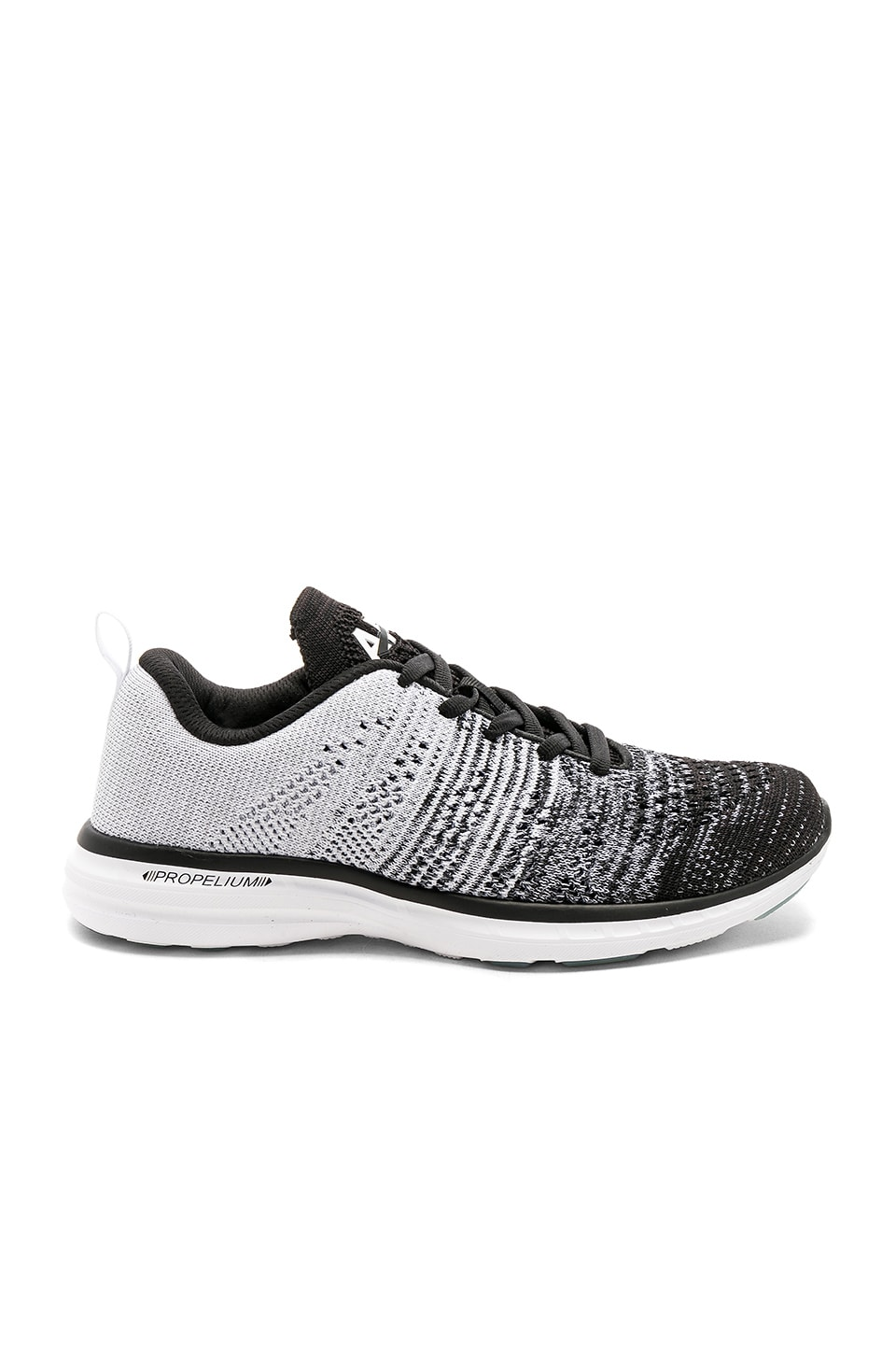 APL: Athletic Propulsion Labs Techloom Pro Sneaker in Black & Heather Grey & White