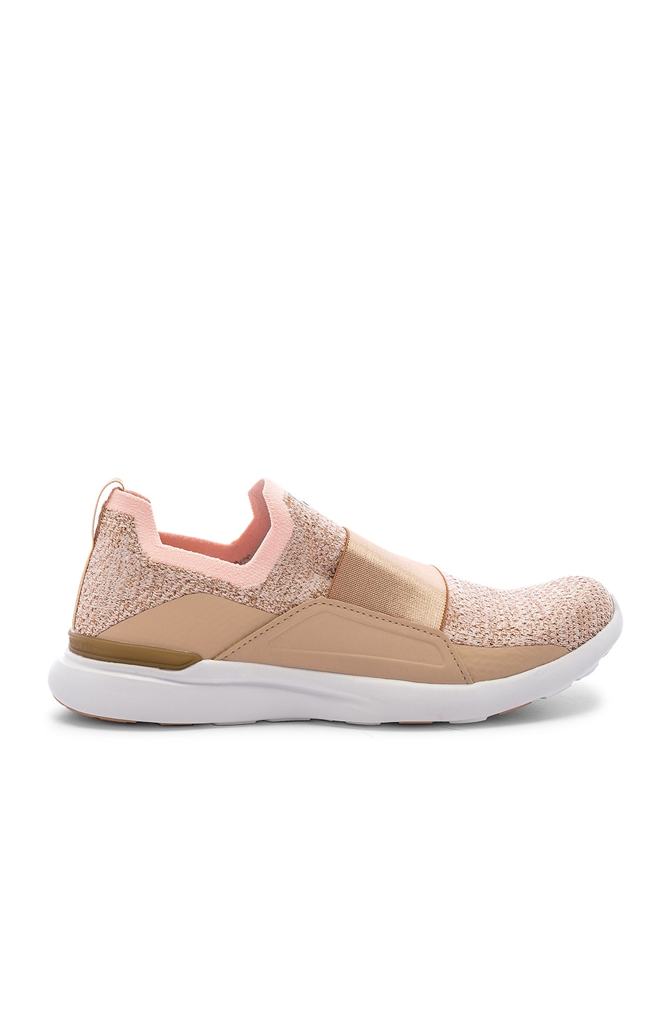 APL: Athletic Propulsion Labs Techloom Bliss Sneaker in Rose Gold & White