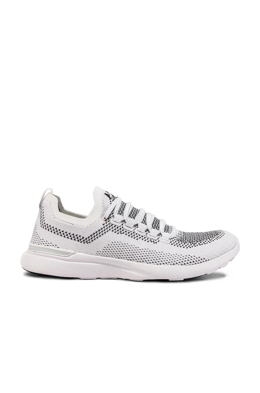 APL: Athletic Propulsion Labs Techloom Breeze Sneaker in White & Black