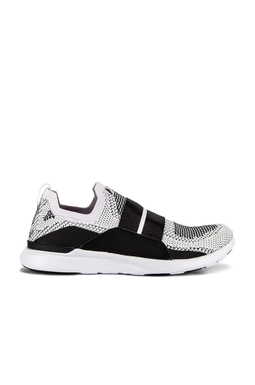 APL: Athletic Propulsion Labs TechLoom Bliss Sneaker in White, Black & White