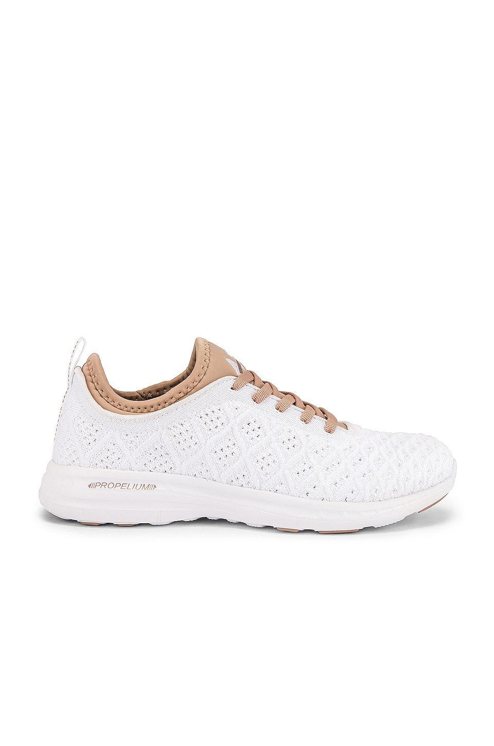 APL: Athletic Propulsion Labs TechLoom Phantom Sneaker in White & Almond