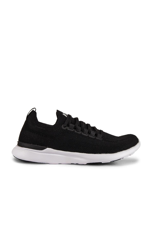APL: Athletic Propulsion Labs TechLoom Breeze Sneaker in Black, Black & White