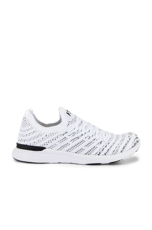 APL: Athletic Propulsion Labs TechLoom Wave Sneaker in White & Black