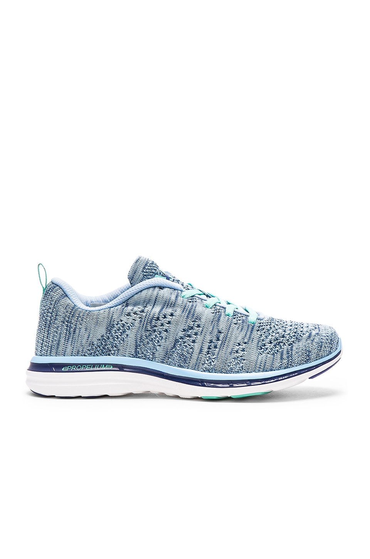 Athletic Propulsion Labs: APL TechLoom Pro Sneaker in Blue Bell & Ink & Mint