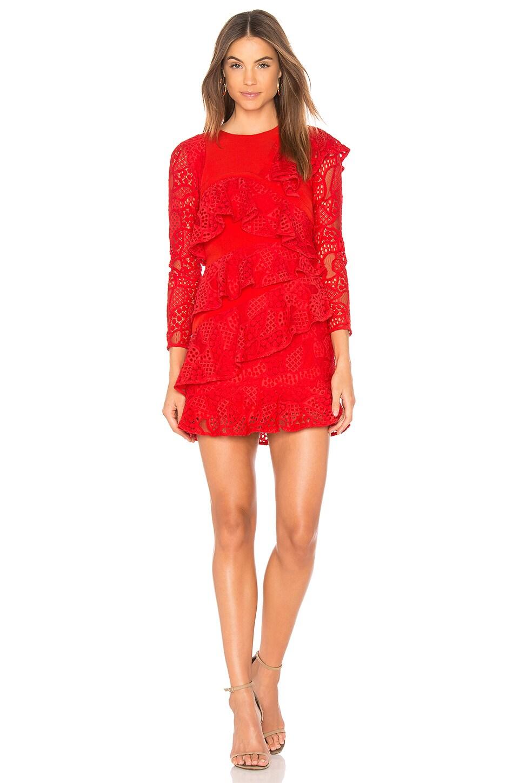 Mae Ruffled Lace Dress by aijek