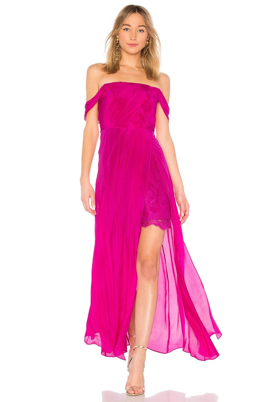 Arabella Off The Shoulder Maxi Dress by aijek