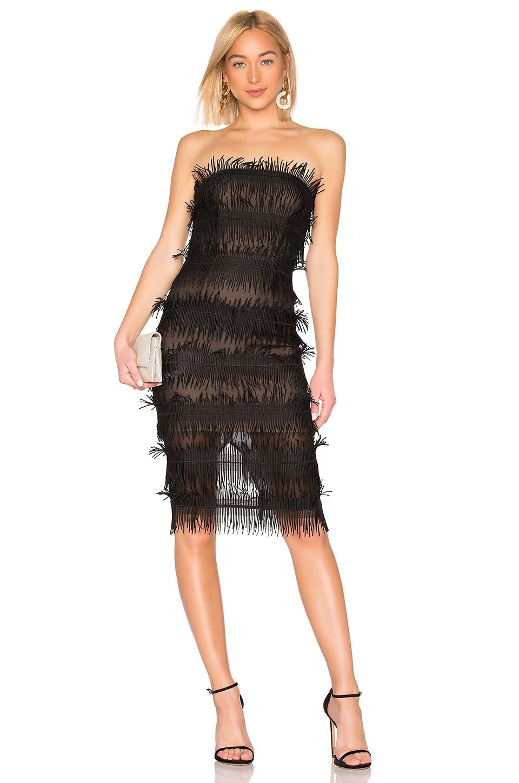 aijek Rain Bustier Dress in Black