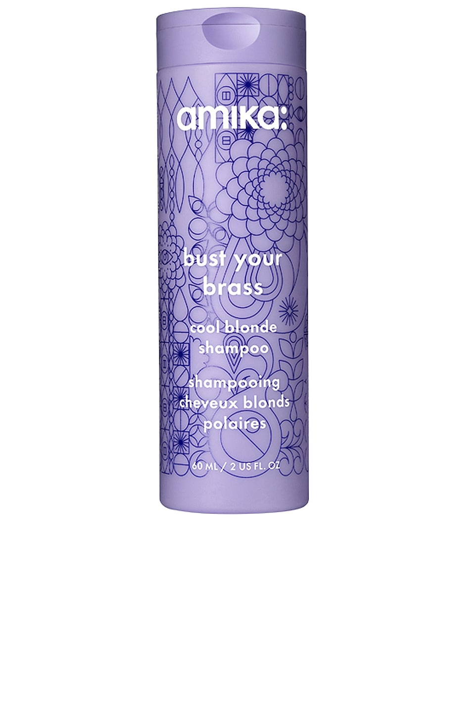 amika Travel Bust Your Brass Cool Blonde Shampoo