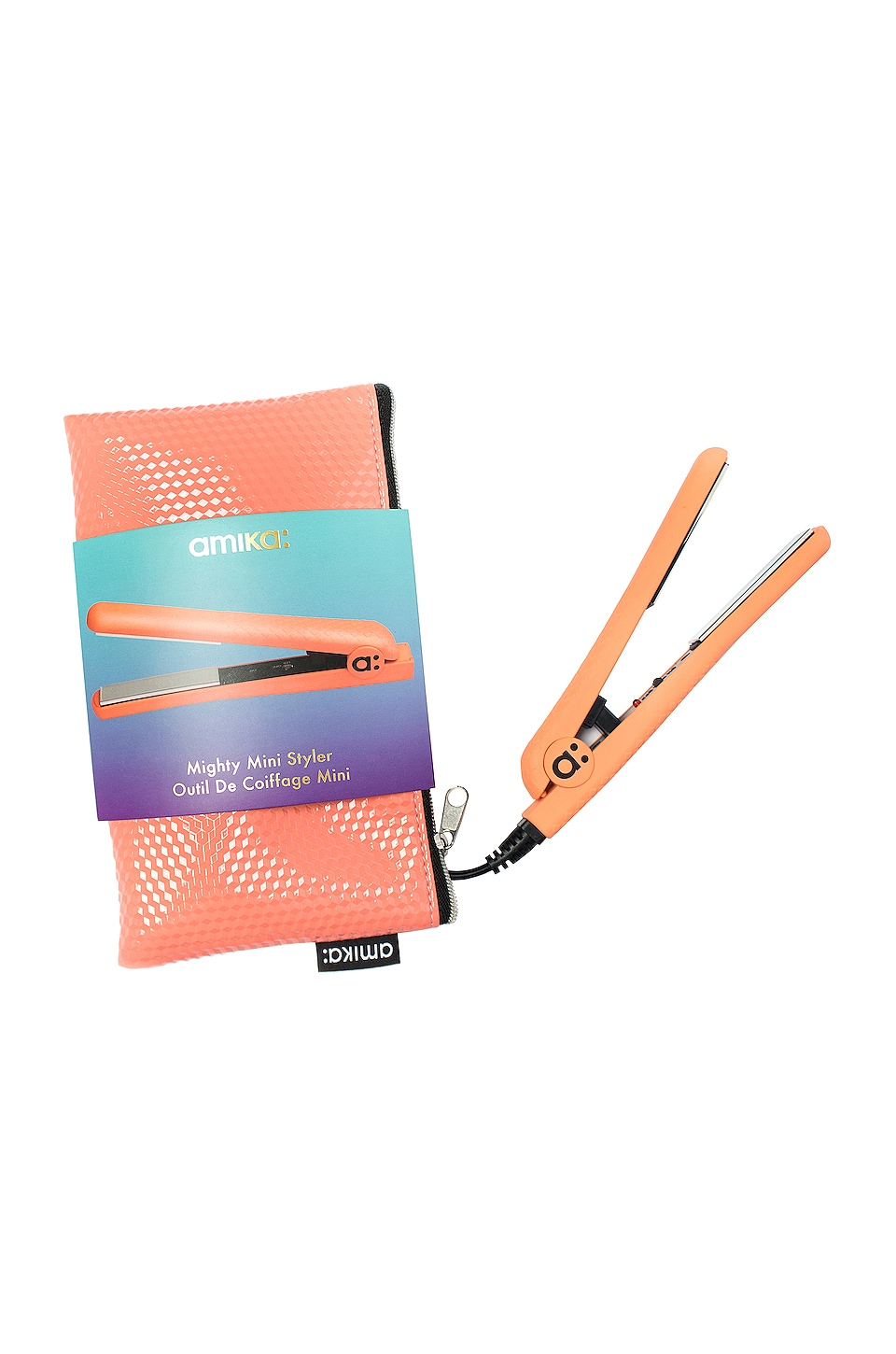 Amika Mighty Mini Styler in Coral Pink + Wink