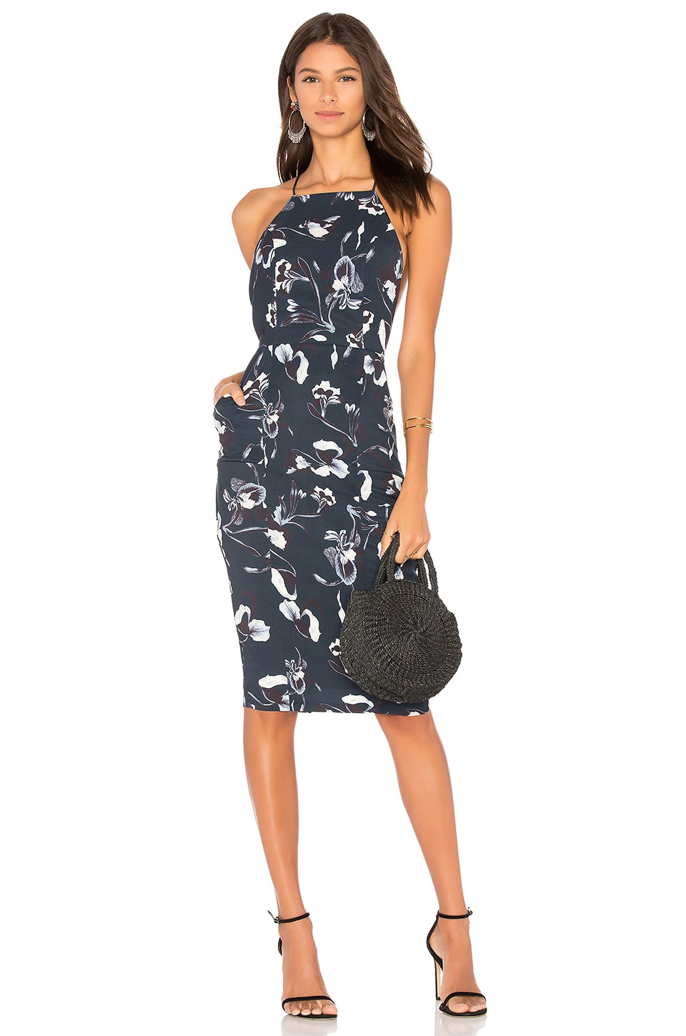 AIRLIE Isolla Dress in Navy Print