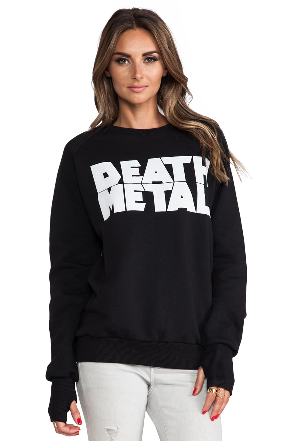 AJL Madhouse Death Metal Sweatshirt in Black