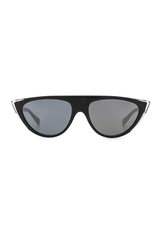 Miss J Mirrored Cat-Eye Sunglasses in Black
