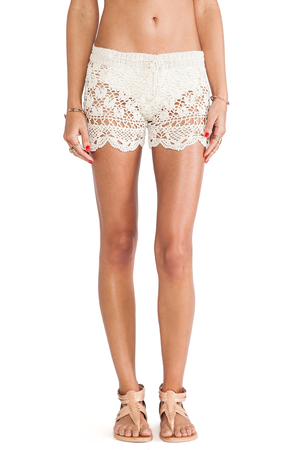Anna Kosturova Antoinette Shorts in Cream