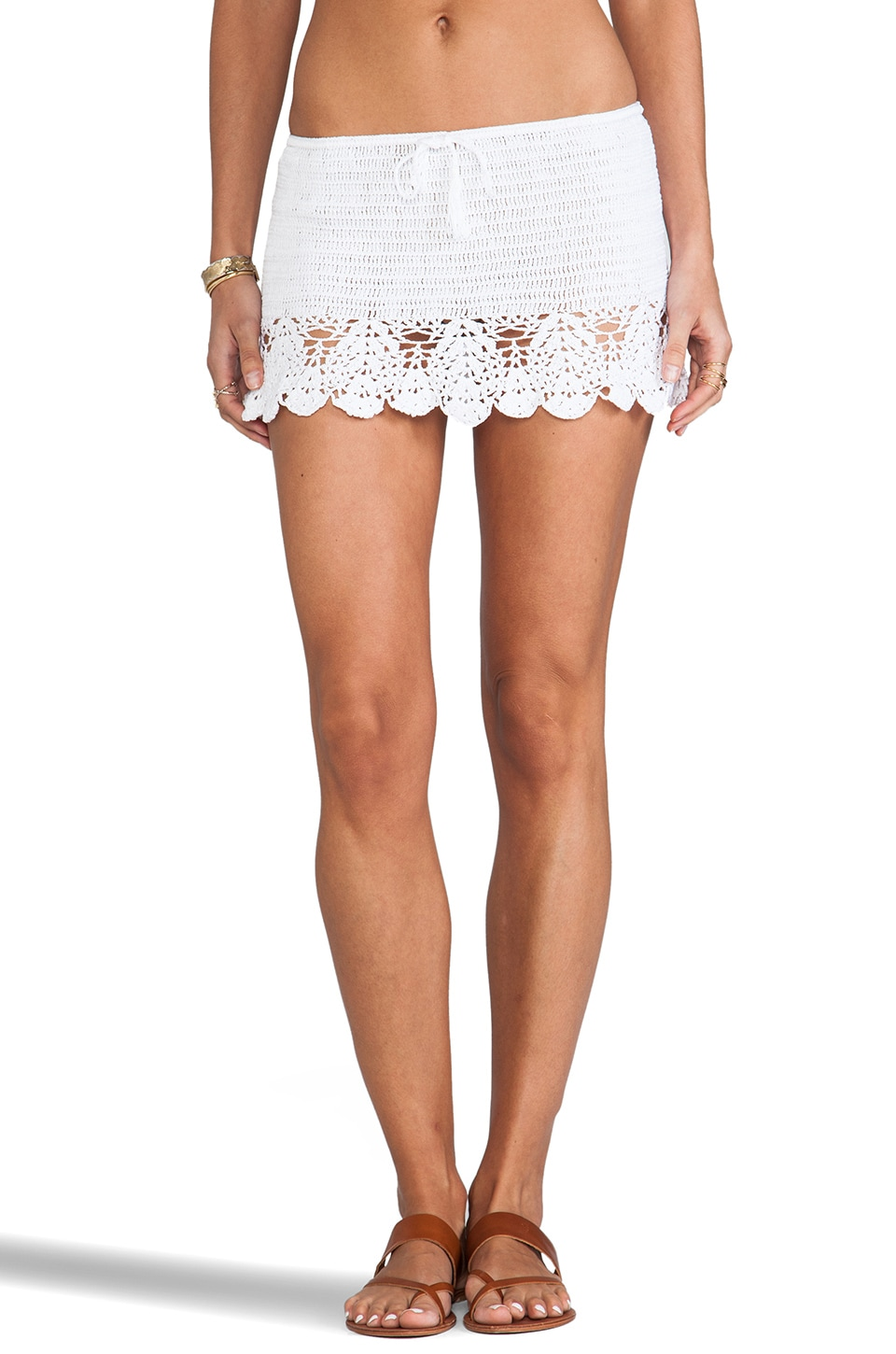 Anna Kosturova Salsa Skirt in White
